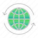 arrow, earth, ecology, go green icon