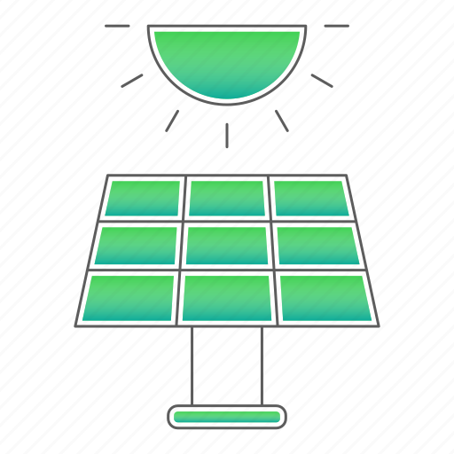 ecology, energy, go green, panel, solar icon