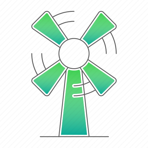 ecology, go green, power, windmill icon