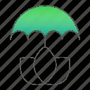ecology, go green, protection, umbrella icon