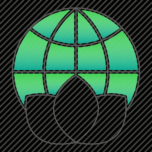 environment, globe, world icon