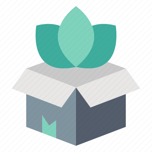 Box, eco, ecology, office, package icon