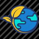eco world, ecology, globe, nature icon