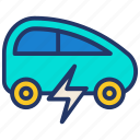 car, earth day, ecology, electric, energy, transport icon