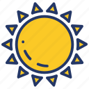 brightness, day, forecast, sun, sunny, weather icon