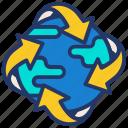 ecology, globe, nature, plant, world icon