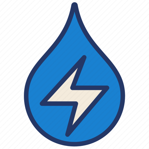 energy, hydro power, water, water drop icon
