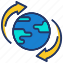 recycle, refresh, world icon