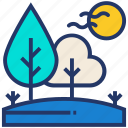 forest, parks, pine, trail, tree icon