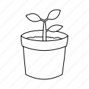 ecology, plant, sapling, sprout icon