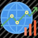 global, statistics, economics, business, finance, analytics, stats icon