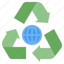 recycle, recycling, recyclable, ecologic, ecology icon