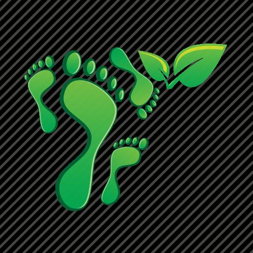 foot, footprint, leaf, print icon