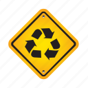 eco, ecology, recycle, recycling, sign icon