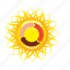 recycle, sun, sunny, weather icon