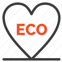 eco, environment, heart, love icon