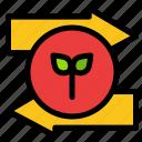 arrow, eco, green, left, right