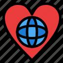 ecology, environment, heart, like, world icon