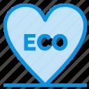 eco, environment, heart, love icon