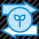 arrow, eco, green, left, right icon