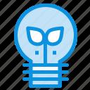 eco, idea, lamp, light icon