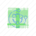 blueprint, graph, recycle icon