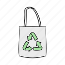 bag, recycled, reusable, tote icon