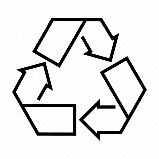 recycle, recycling, recycling bin icon