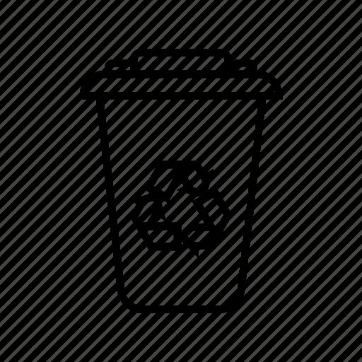 recycling, recycling bin, rubbish, trash icon