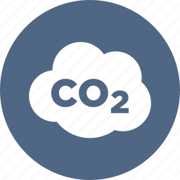 carbon dioxide, co2, emissions, gas, hazard, pollution, warning icon