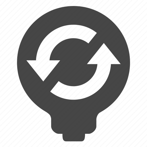 bulb, recycle icon