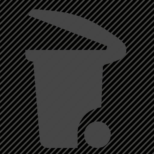 bin, can, trash icon