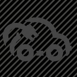 electric car, plug icon