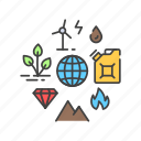 energy, natural, nature, planet, power, resources icon
