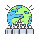 issues, population, environmental, demographic, people, overpopulation icon