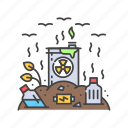 issues, rubbish, environmental, landfill, pollution, garbage icon