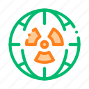 planet, radiation icon icon