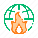 earth, fire, planet, wilderness icon