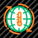 high, problem, temperature icon