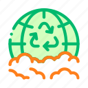 earth, planet, recycle, trash icon
