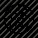 planet, radiation icon