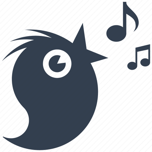 bird, eco, ecology, environment, happy, musical, notes, singing, twitter icon