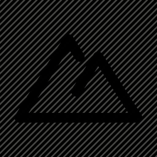 field, mount, mountain, terrain icon