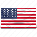 flag, north america, united stated of america, usa icon