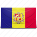 andorra, europe, flag icon