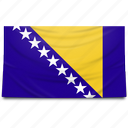 bosnia, europe, flag, herzegovina icon