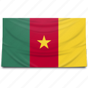 cameroon, flag, africa icon
