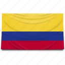 colombia, flag, south america icon