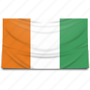 africa, cote, divoire, flag icon