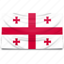 europe, flag, georgia icon